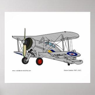 Gloster Gladiator (1937) Poster