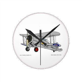 Gloster Gladiator (1937) Reloj Redondo Mediano
