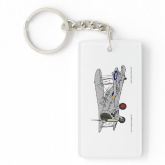 Gloster Gladiator (1937) Single-Sided Rectangular Acrylic Keychain