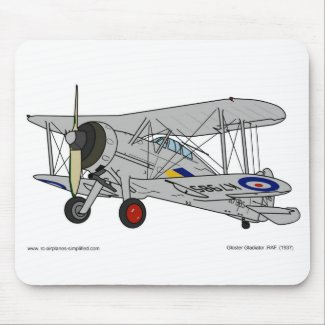 Gloster Gladiator-73 Squadron-1937 Mouse Pad