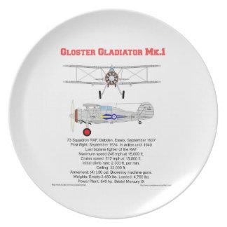 Gloster Gladiator-73 Squadron (1937) Plato De Cena