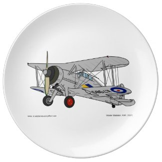 Gloster Gladiator biplane Porcelain Plates