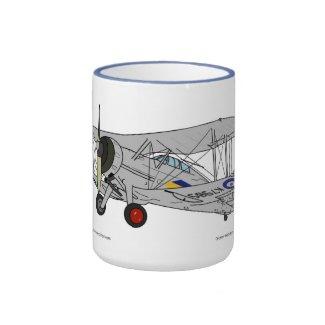 Gloster Gladiator Biplane Ringer Coffee Mug
