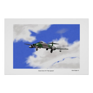 """Gloster Meteor """"Final Approach"""" Poster"""