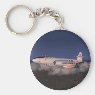 Gloster Meteor Jet Fighter Plane Keychain