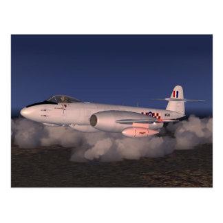 Gloster Meteor Postcard
