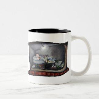 Glotonería, uno de los siete pecados mortales tazas de café