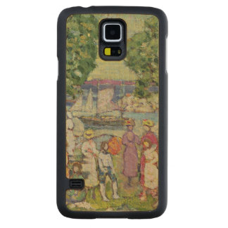 Gloucester Harbour (oil on canvas) Carved Maple Galaxy S5 Slim Case
