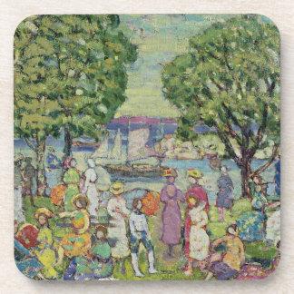 Gloucester Harbour (oil on canvas) Coaster