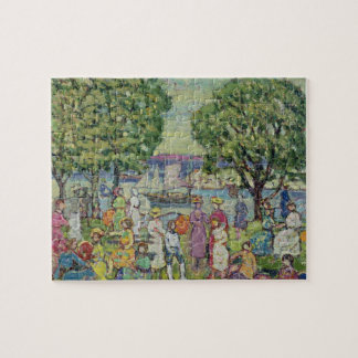 Gloucester Harbour (oil on canvas) Jigsaw Puzzle