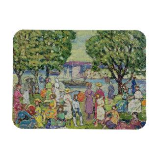 Gloucester Harbour (oil on canvas) Magnet