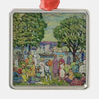 Gloucester Harbour (oil on canvas) Metal Ornament