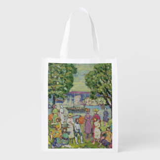 Gloucester Harbour (oil on canvas) Reusable Grocery Bag