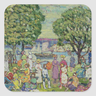 Gloucester Harbour (oil on canvas) Square Sticker