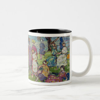 Gloucester Harbour (oil on canvas) Two-Tone Coffee Mug