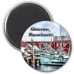 Gloucester, Massachusetts 2 Inch Round Magnet