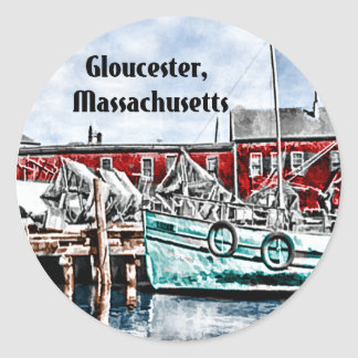 Gloucester, Massachusetts Classic Round Sticker