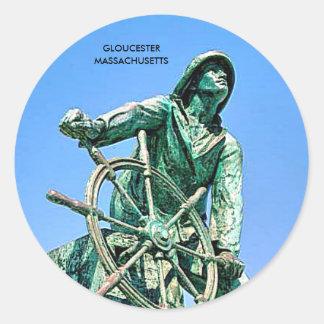 GLOUCESTER MASSACHUSETTS ETIQUETAS REDONDAS
