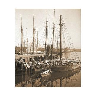 Gloucester Massachusetts Wharf 1905 Canvas Print