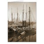 Gloucester Massachusetts Wharf 1905 Greeting Card