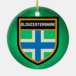 Gloucestershire Flag Ceramic Ornament