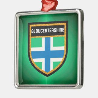 Gloucestershire Flag Metal Ornament