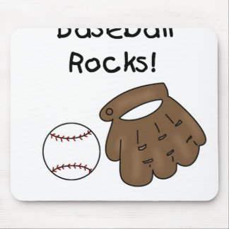 Glove and  Ball Baseball Rocks Mouse Pad