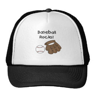 Glove and  Ball Baseball Rocks Trucker Hat