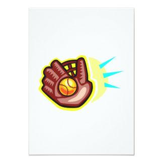 Glove and baseball card