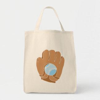 Glove & Ball Baseball Tote Bag