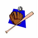 glove ball & bat photo cut out