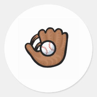 Glove Ball Round Stickers