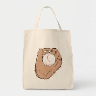 glove & ball tote bag