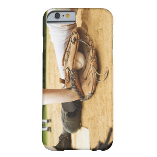 Glove of baseball player tagging runner out, barely there iPhone 6 case