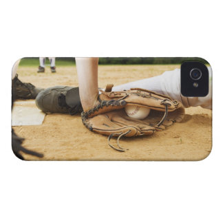 Glove of baseball player tagging runner out, Case-Mate iPhone 4 case