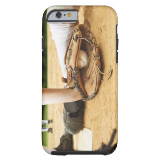 Glove of baseball player tagging runner out, tough iPhone 6 case