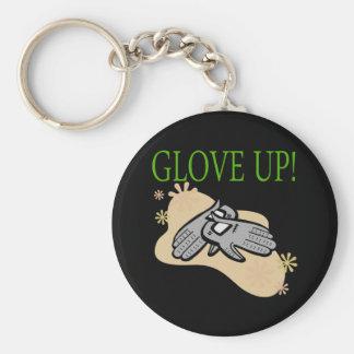 Glove Up Basic Round Button Keychain