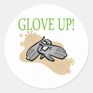 Glove Up Classic Round Sticker