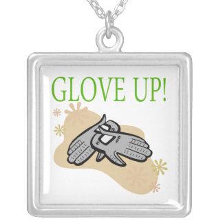 Glove Up Square Pendant Necklace