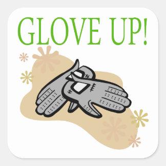 Glove Up Square Sticker