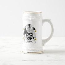 Glover Family Crest Beer Stein