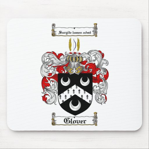 GLOVER FAMILY CREST -  GLOVER COAT OF ARMS MOUSE PAD