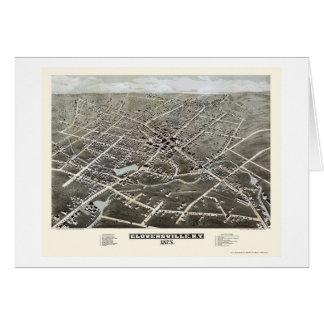 Gloversville, mapa panorámico de NY - 1875 Tarjetas