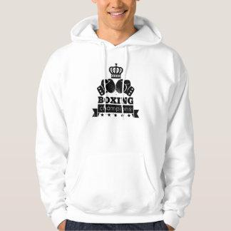 gloves and crown hoodie