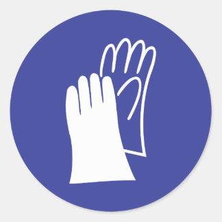 Gloves Classic Round Sticker