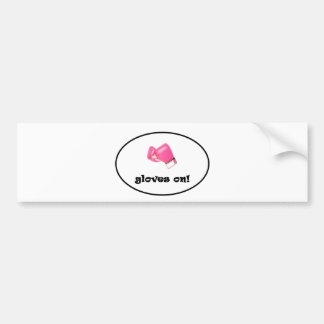 Gloves On! Bright Pink Boxing Gloves Bumper Sticker