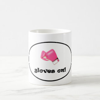 Gloves On! Bright Pink Boxing Gloves Coffee Mug