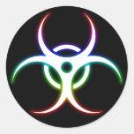 Glow Biohazard Symbol - Sticker
