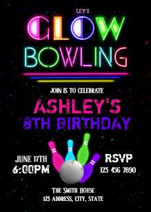 bowling invitations zazzle