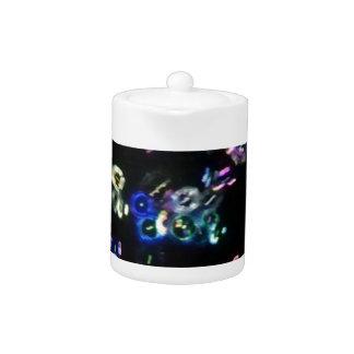Glow bubbles at night teapot